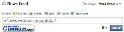 Cara Untuk Membuat Teks Status Di Facebook Berwarna BIRU
