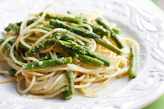 ... but a wonderful way to enjoy asparagus which is in season right now