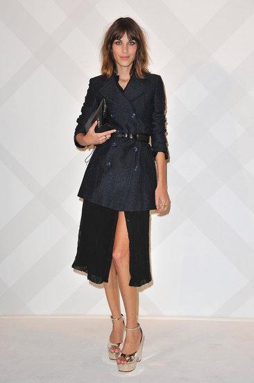 Alexa Chung en la inauguración de Burberry en París