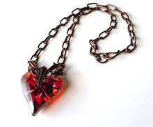 Red Magma Gothic Heart