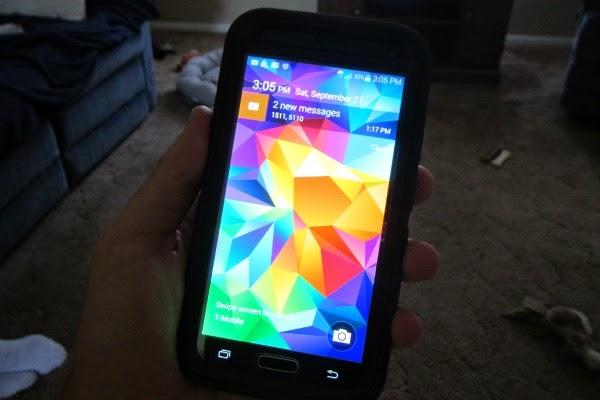 Shiny brand new phone!