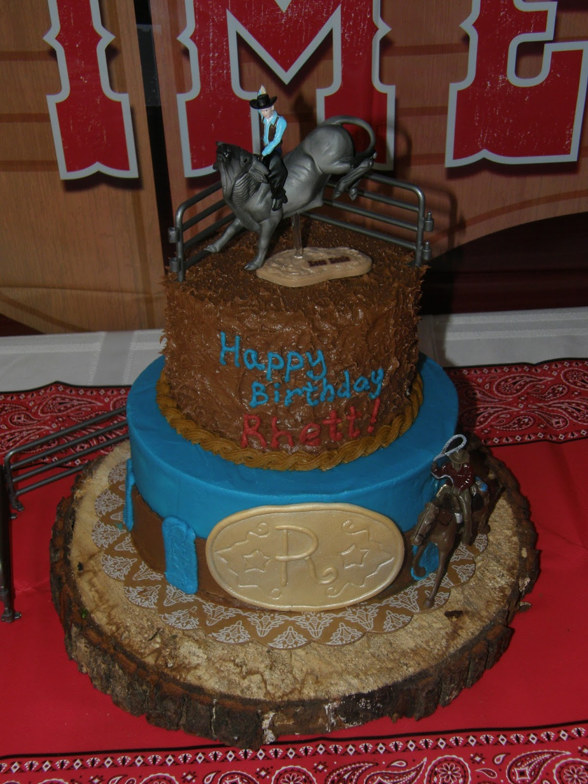 Mrs Lydias Kitchen Rodeo Birthday Cake