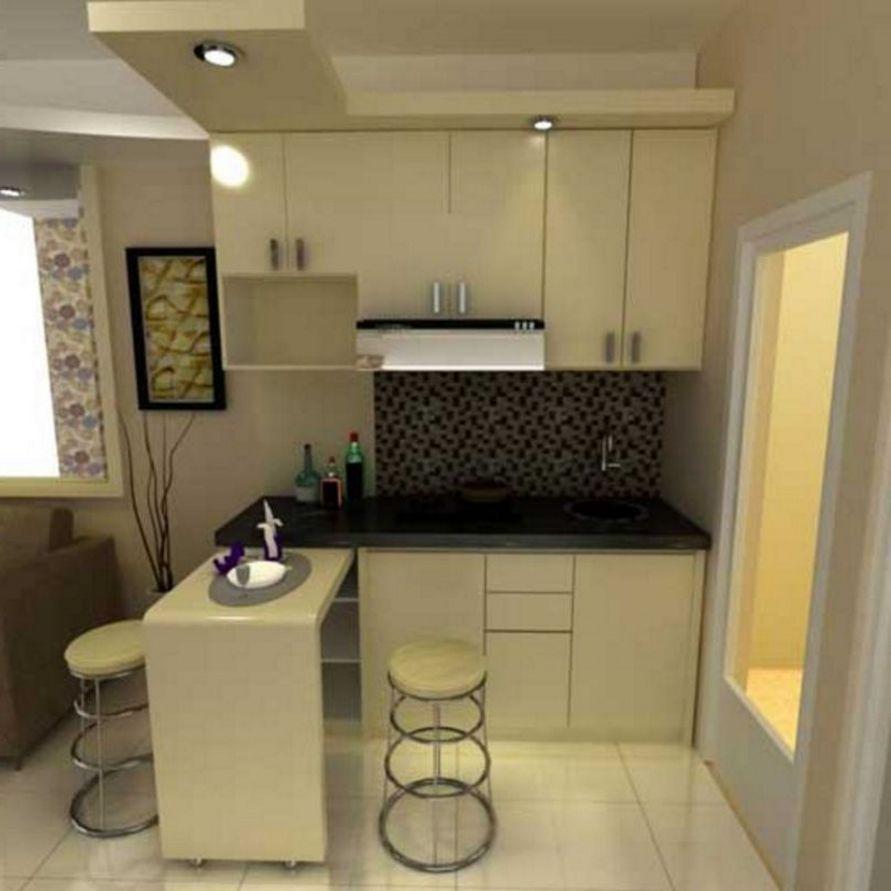 menata interior desain dapur kecil tapi bagus minimalis