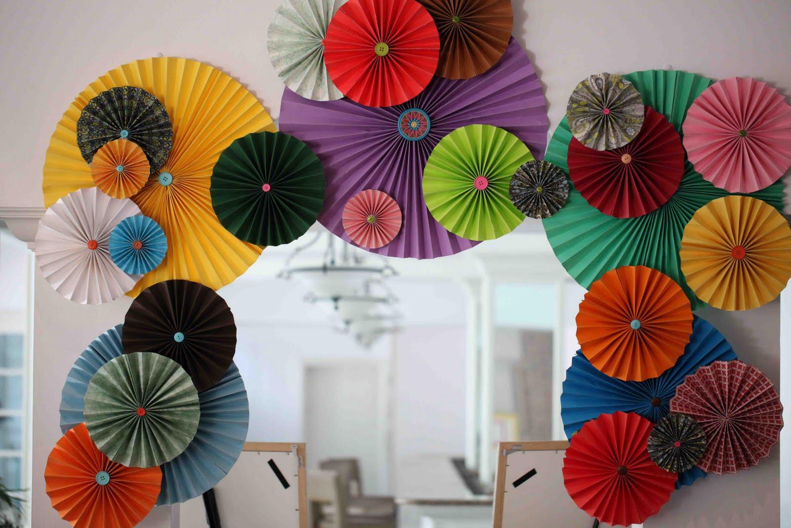 DIY Paper Fan Decorations : お正月 折り紙 折り方 : すべての折り紙