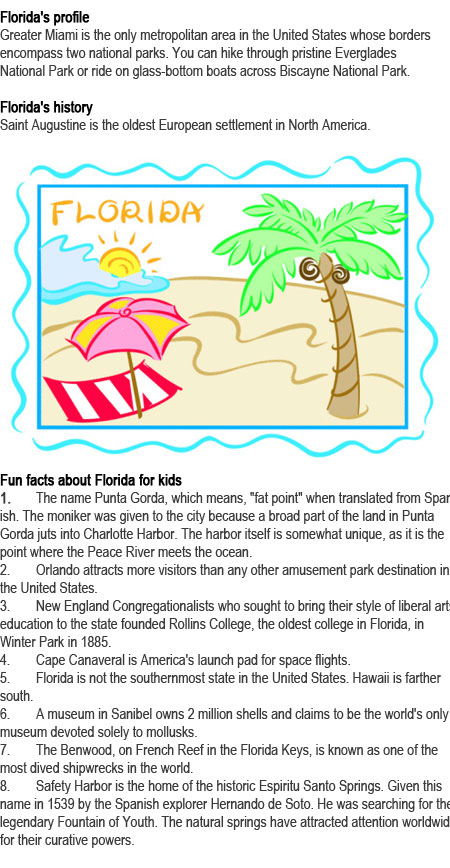 Fun facts about Florida for kids