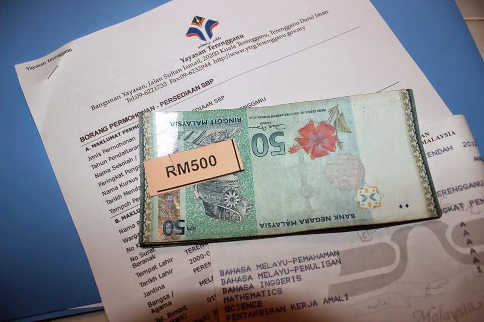 Permohonan Bantuan Persedian Ke SBP dan IPTA IPTS Matrik Anak Terengganu