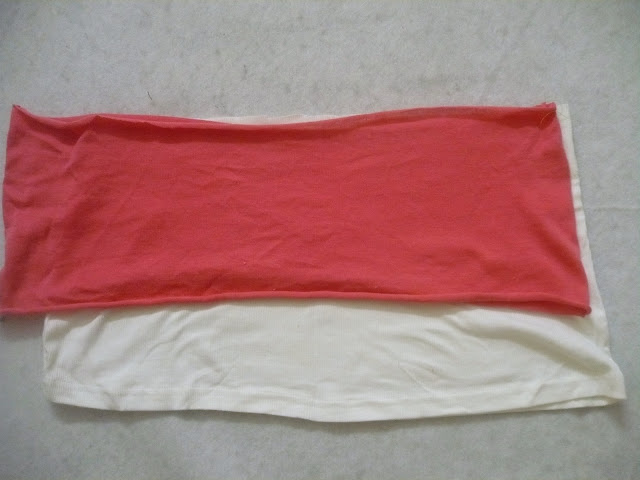 sew a skirt with two tshirts