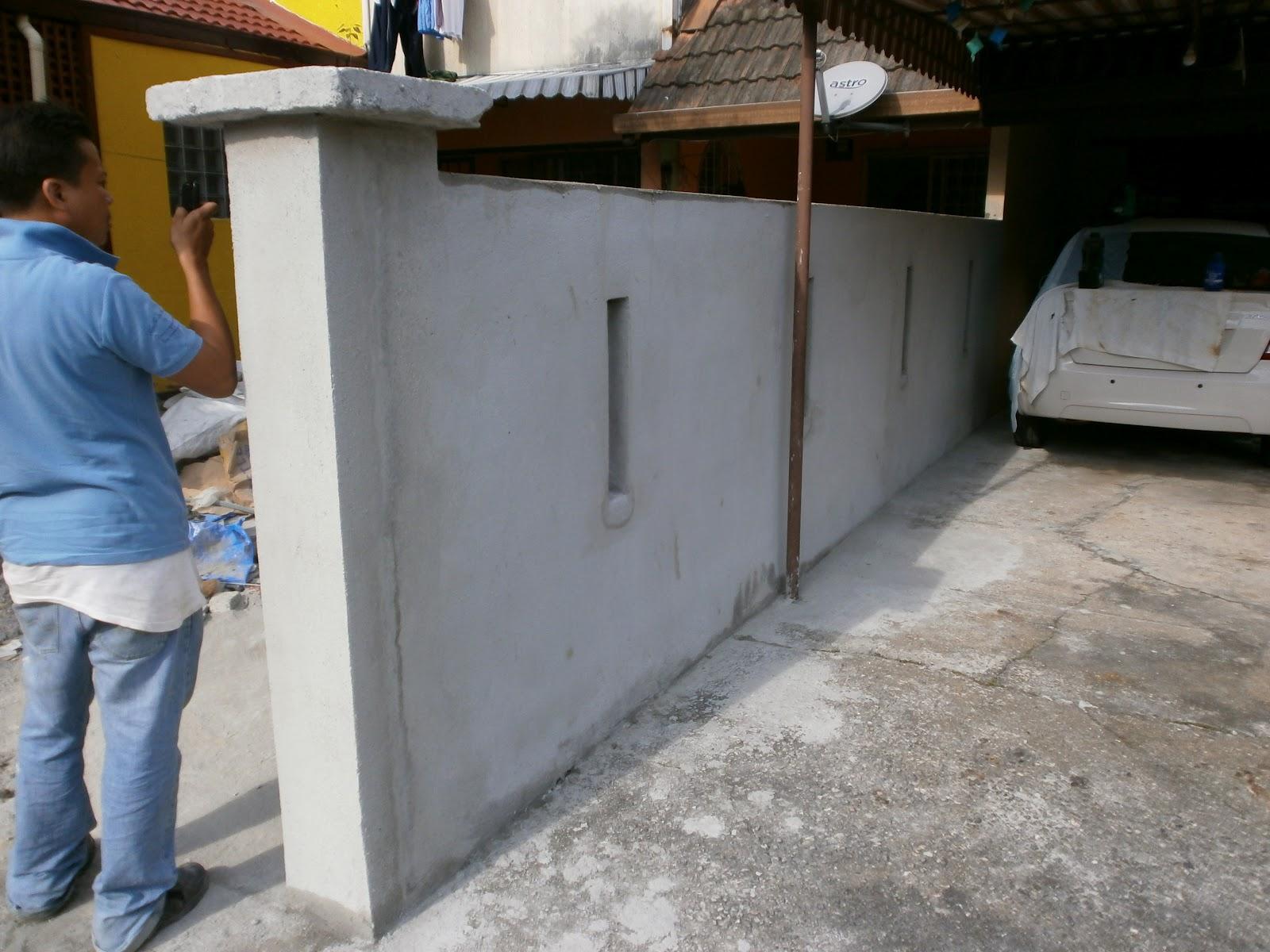 Kos Tembok Pagar Rumah Teres