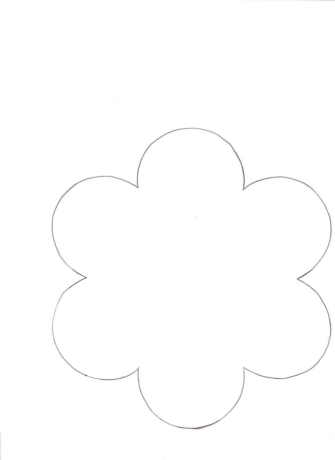 printable flower template .
