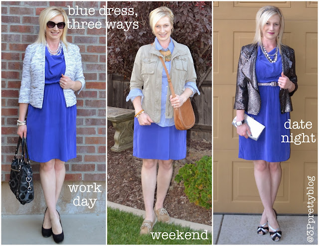 Blue dress, three ways