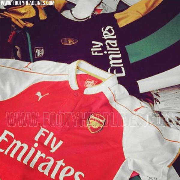 Filtradas las nuevas camisetas Puma del Arsenal para la próxima temporada