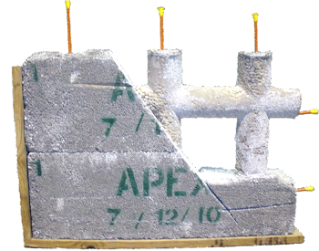 Forever green concrete forms apex block for Apex block homes