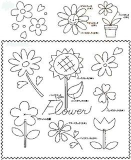 Molde de florzinhaS para e.v.a e feltro