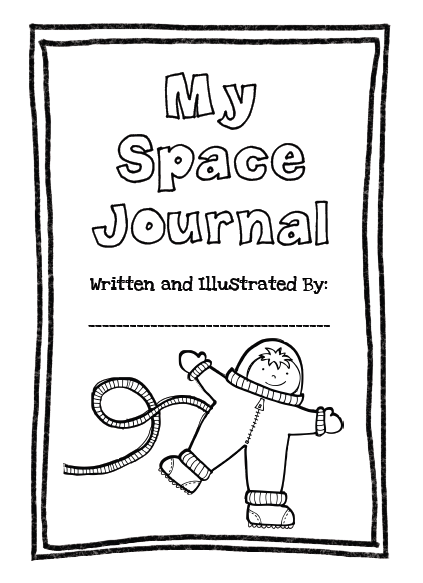 Space themed writing paper