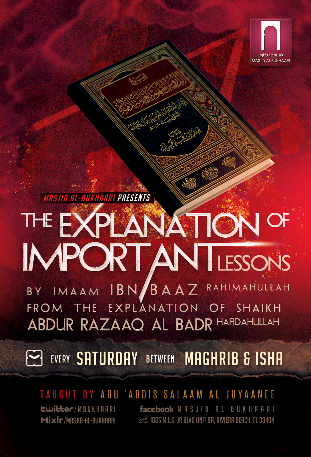 Weekly Class: The Explanation Of Important Lessons