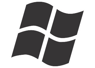 Windows Logo Vector (Black-White Design) download free