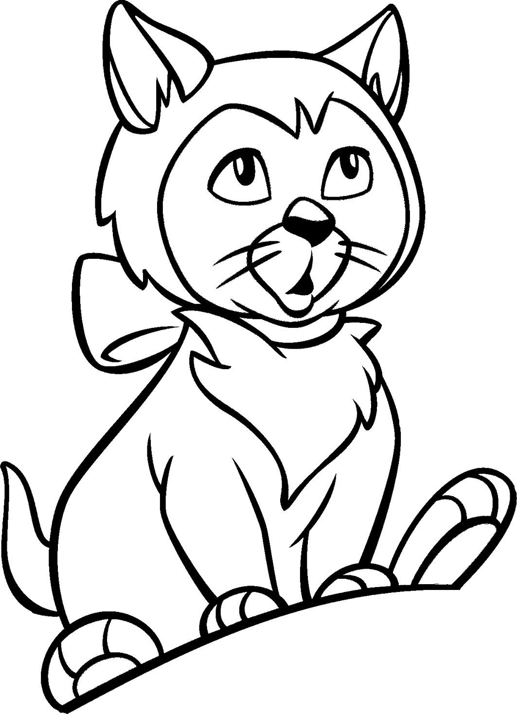 Coloring pages for kids cat coloring pages for kids for Cat coloring pages for toddlers