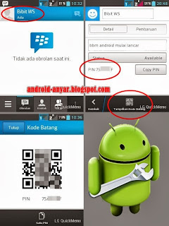 Langkah melihat PIN aplikasi BBM for Android