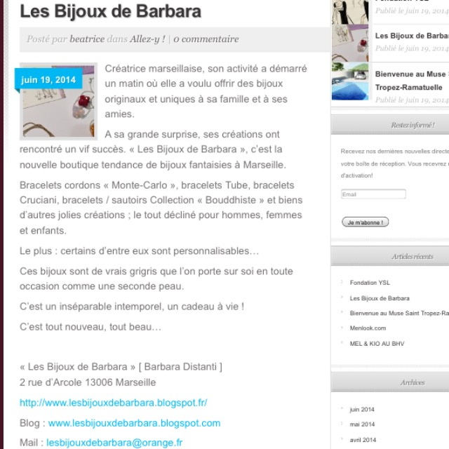 Article du Daily Blog par Béatrice Chakra