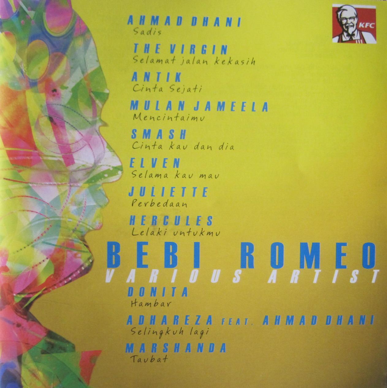 Daftar lagu album VA - Bebi Romeo (2011)