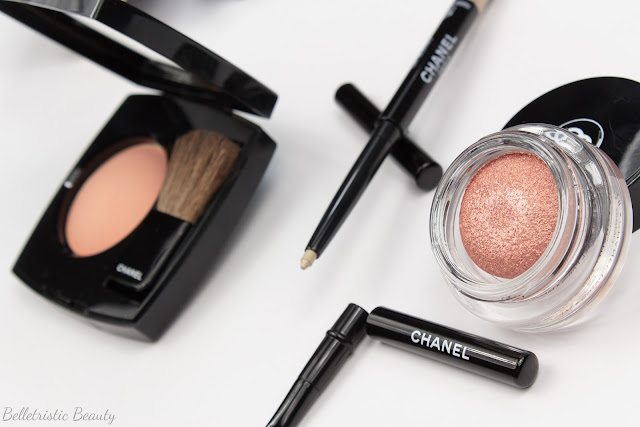 Chanel Caresse 180 Joues Contraste Blush, Or Blanc 987 Stylo Yeux Waterproof Eyeliner and Envol 847 Illusion d'Ombre IdO Eyeshadow, Plumes Précieuses de Chanel Collection, Holiday Winter 2014