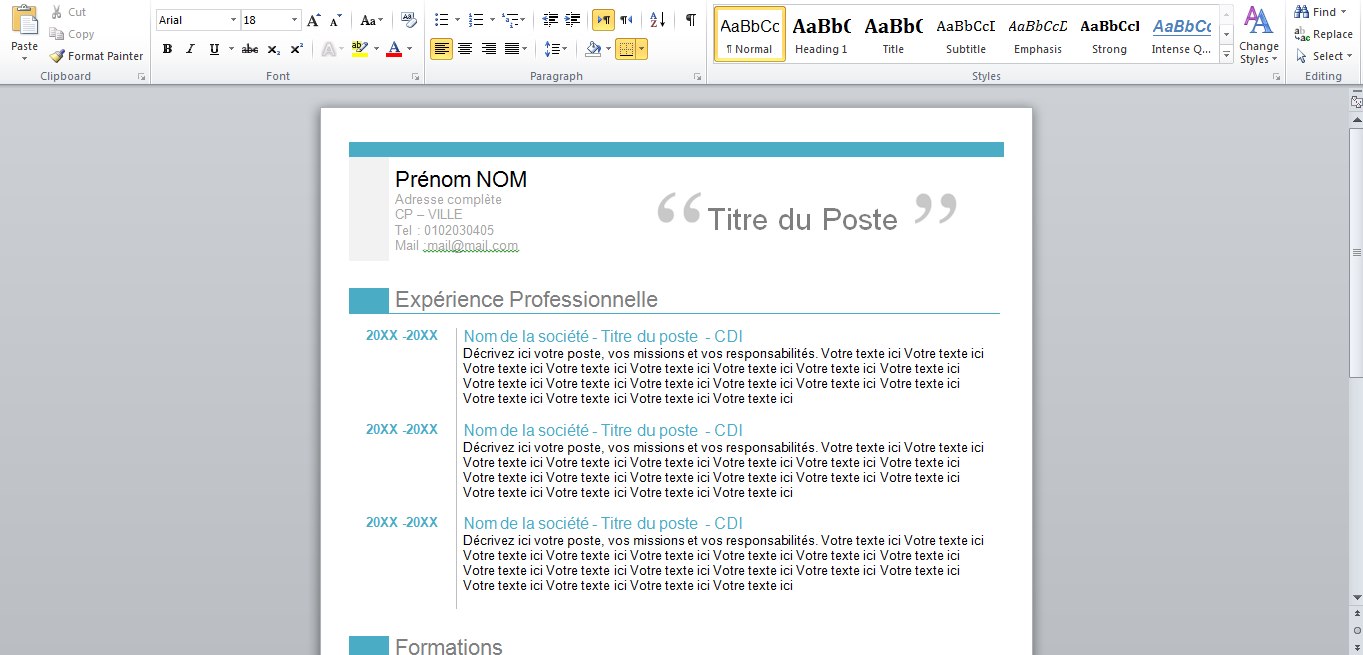 Stagepfe Download Free Professional Curriculum Vitae Format Word 2015