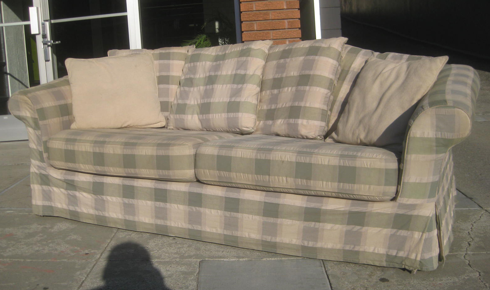 Uhuru Furniture Collectibles Sold Plaid Sofa 50