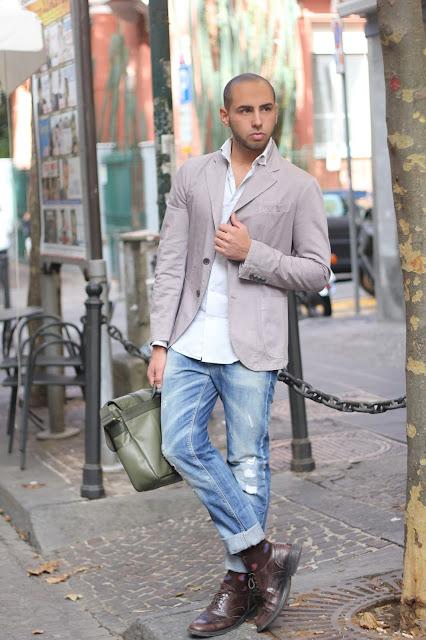 giacca colore rosa uomo