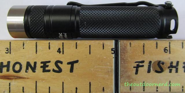 Eagletac D25A Mini 1xAA Flashlight: Next To Ruler
