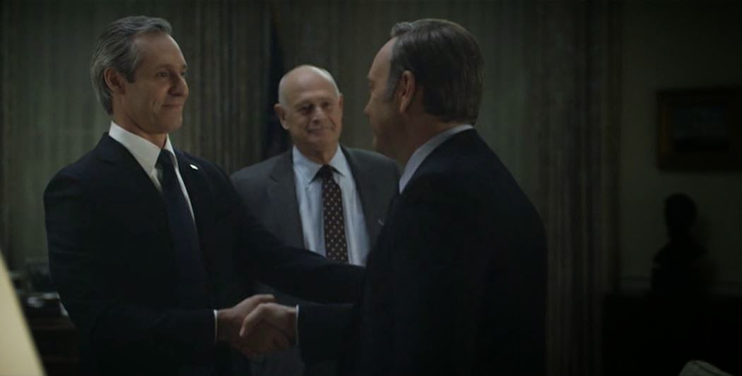President Garrett Walker offers Congressman Frank Underwood the vice presidency