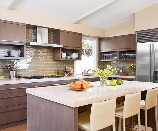 id es cuisine contemporaine. Black Bedroom Furniture Sets. Home Design Ideas