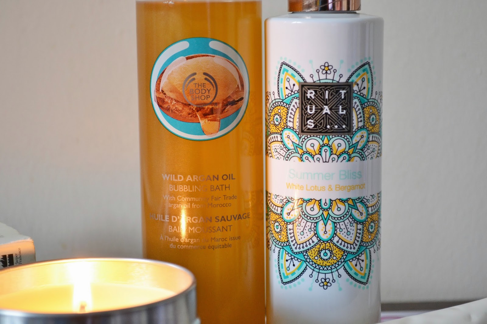 Relaxing Pamper Session ft The Body Shop Argan Oil Bubbling Bath, Rituals Summer Bliss Shower Oil - Aspiring Londoner