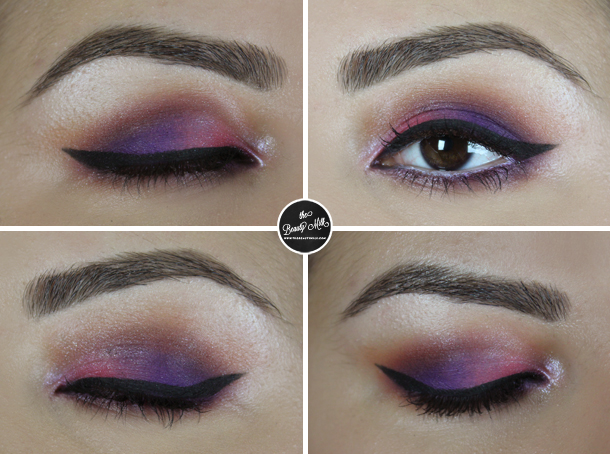 pink purple mute 92 mac embrace me eyeshadow makeup look kitschmas