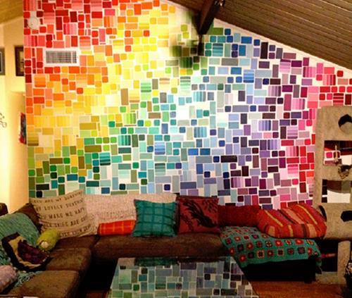 2. Rainbow Wall
