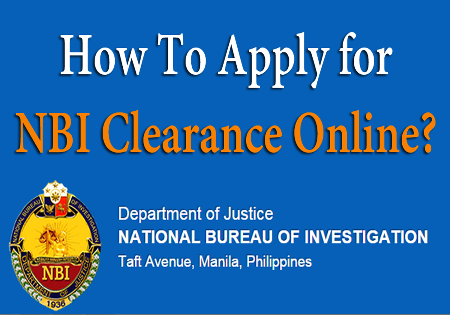 NBI Clearance Online: How to Apply? | Specof.com