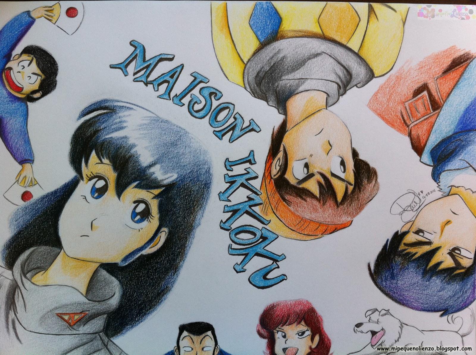 Mi peque o lienzo maison ikkoku anime for Anime maison ikkoku