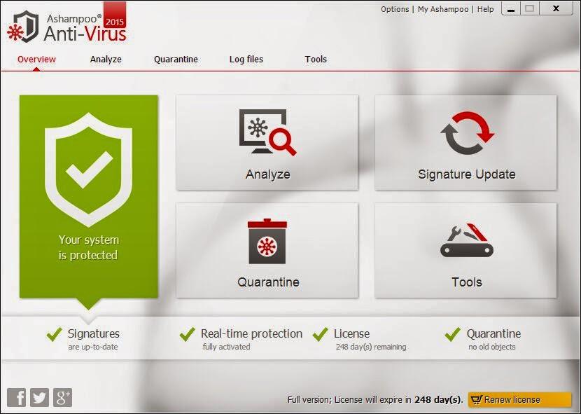 تحميل برنامج Ashampoo Antivirus لحذف الفيروسات