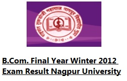 B.COM. FINAL WINTER 2012 Result Nagpur University