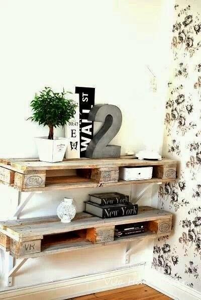 Querida claudina muebles con palets estanter as - Estanterias con palet ...