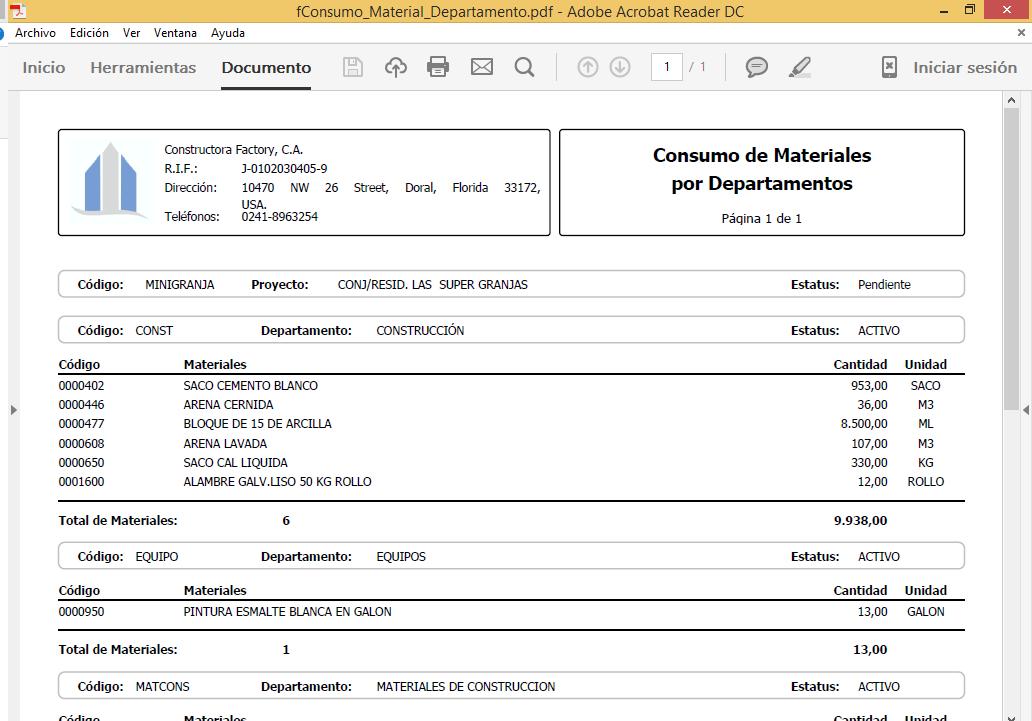 Obras cloud reportes y formatos de proyectos y obras de for Oficina de proyectos de construccion