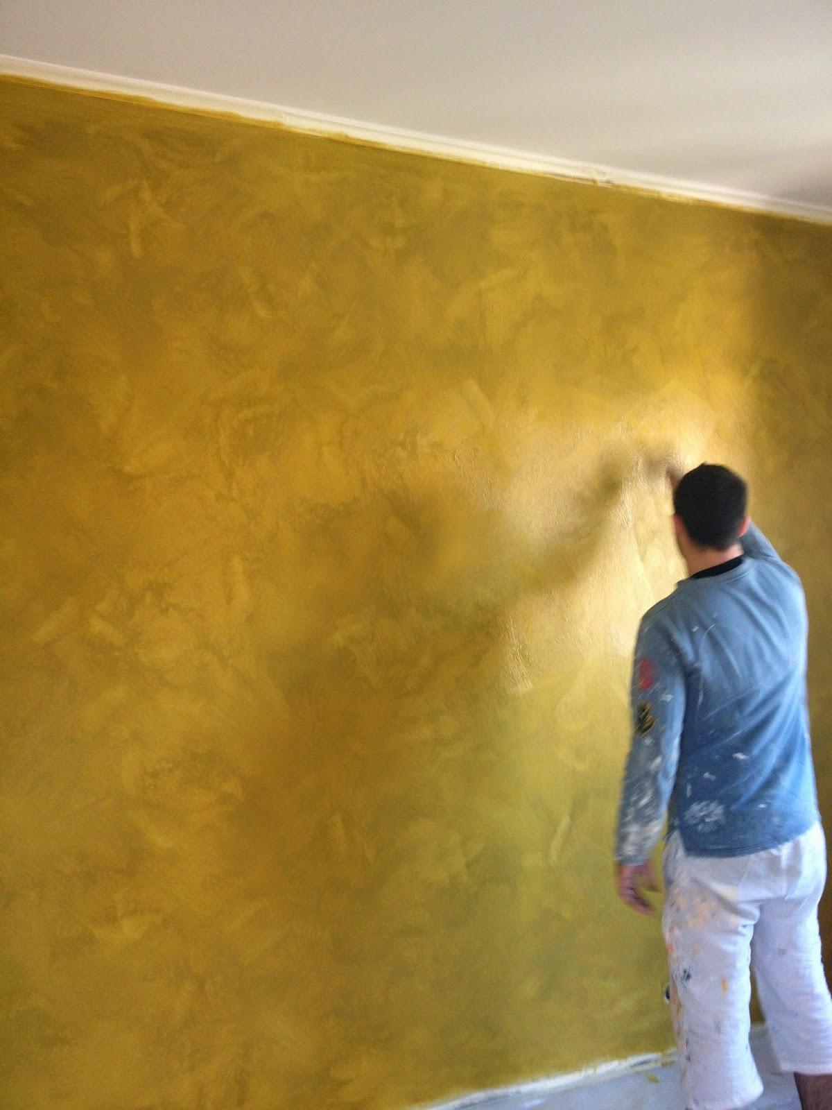 Peinture murale couleur or accueil design et mobilier - Peinture murale couleur or ...