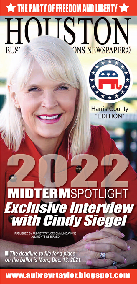 Cindy Siegel - Harris County Republican Party Chair Interview with Aubrey R. Taylor