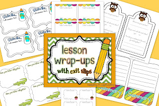 Lesson Wrap-Ups with Exit Slips