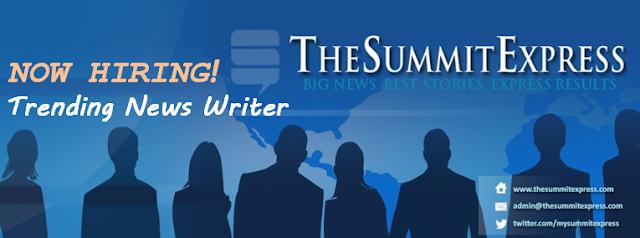 TheSummitExpress Now Hiring: Feature/Trending News Writer