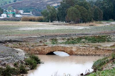 La alcantarilla del Salado en las inundaciones de diciembre de 2009