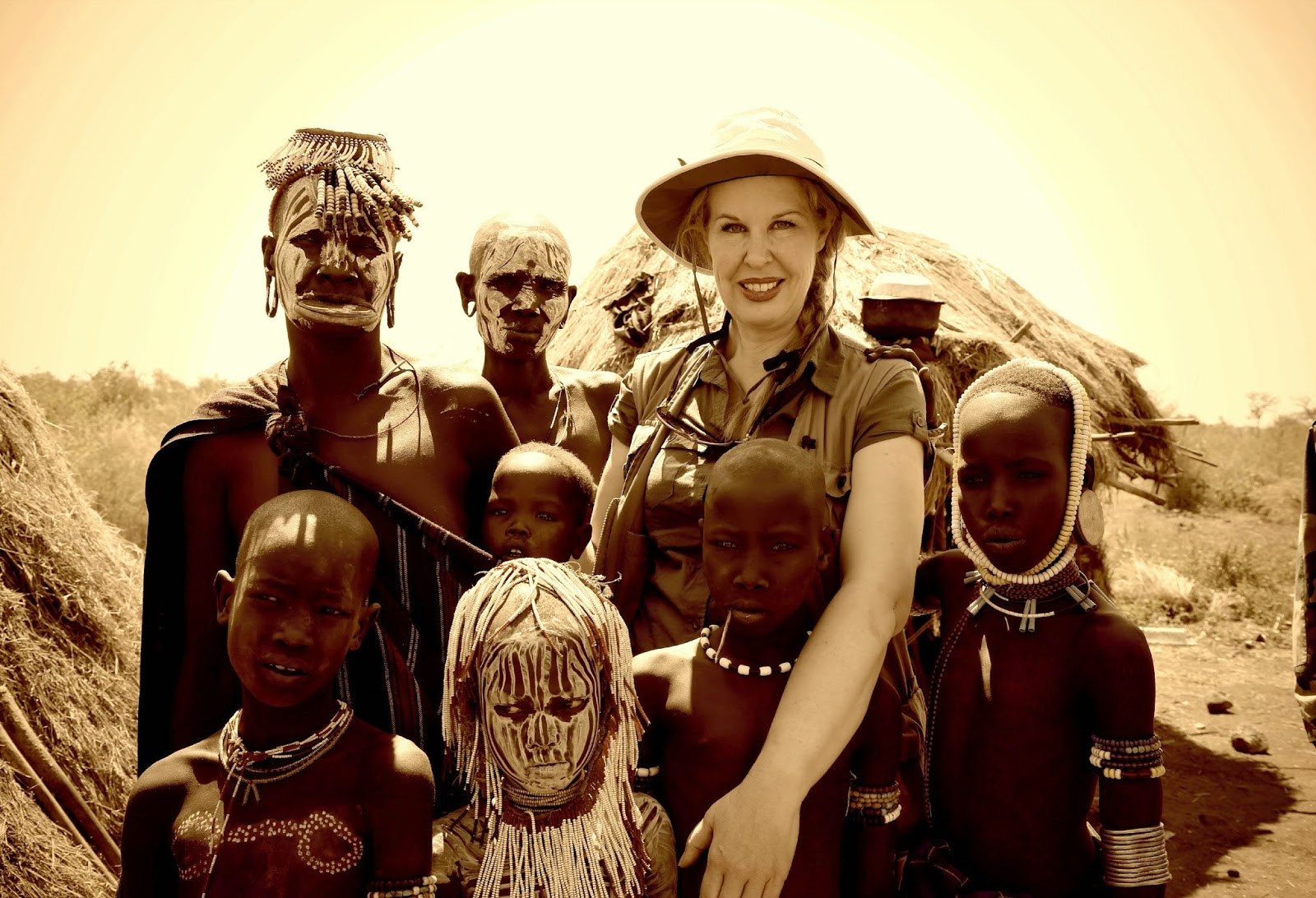 On Safari visiting the Mursi tribe