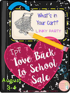 What's in Your Cart Back to School Linky Party