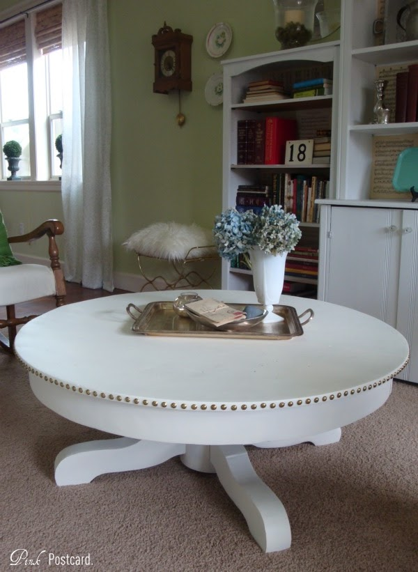 Nailhead Coffee Table Makeover