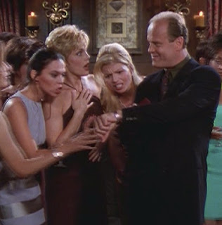 Frasier shows off his latest gift