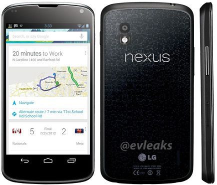 LG Nexus 4 Price, Specs confirmed, Pre-order started